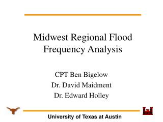 Midwest Regional Flood Frequency Analysis