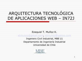 ARQUITECTURA TECNOLÓGICA DE APLICACIONES WEB – IN72J