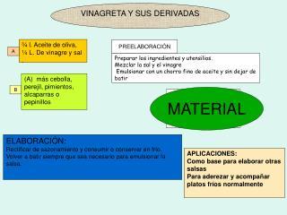 VINAGRETA Y SUS DERIVADAS