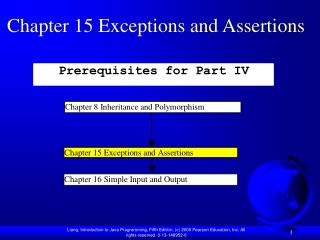 Chapter 15 Exceptions and Assertions
