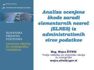 Analiza ocenjene �kode zaradi elementarnih nesre? (ELNES) iz administrativnih virov podatkov