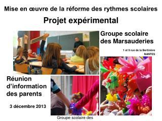 Groupe scolaire des Marsauderies - Nantes
