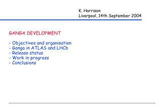 K. Harrison Liverpool, 14th September 2004