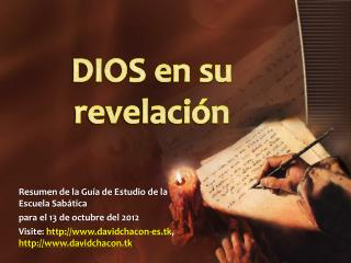 DIOS en su revelaci�n