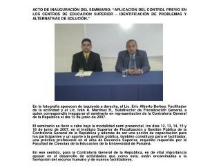 Funcionarios que realizaban su investigación en la Universidad Tecnológica de Panamá.