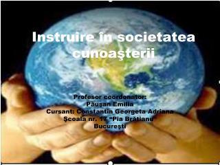Instruire în societatea cunoaşterii