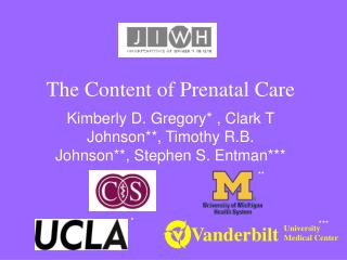 The Content of Prenatal Care