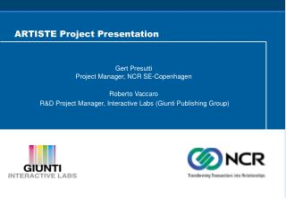 ARTISTE Project Presentation