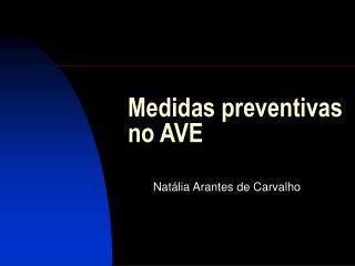 Medidas preventivas no AVE