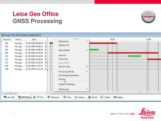 Leica Geo Office  GNSS Processing