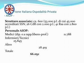 Associazione Italiana Ospedalità Privata - AIOP -