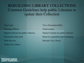Rebuilding Library Collections  Common Guidelines help public Libraries to update their Collection