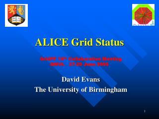 ALICE Grid Status