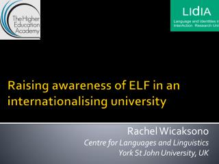 Raising awareness of ELF in an internationalising university