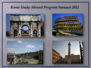 Rome Study Abroad Program Summer 2011