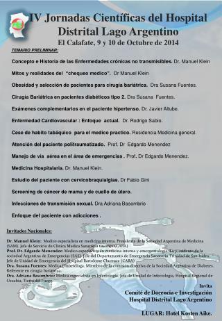 Concepto e Historia de las Enfermedades crónicas no transmisibles. Dr.Manuel Klein