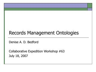 Records Management Ontologies