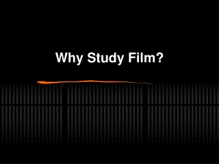 The Significance of Film Form