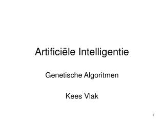 Artifici�le Intelligentie