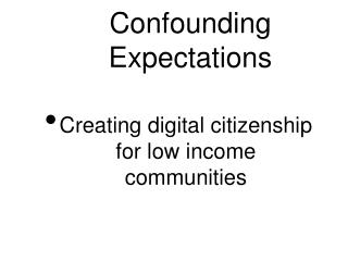 Confounding Expectations