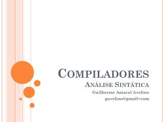Compiladores  Análise Sintática