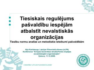 Aija Karlsberga, Latvijas Pilsoniskā alianse (eLPA)