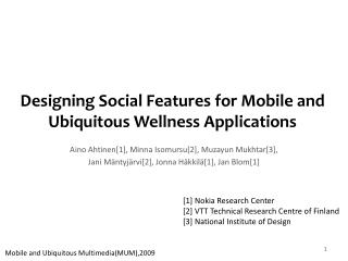 Designing Social Features for Mobile and Ubiquitous Wellness Applications