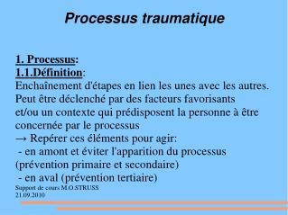 Processus traumatique