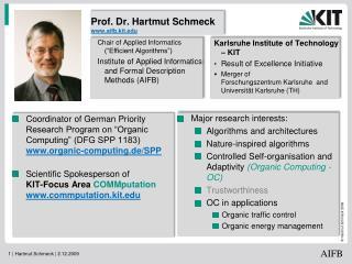 Prof. Dr. Hartmut Schmeck aifb.kit