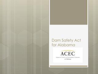Dam Safety Act for Alabama