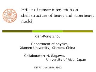 Effect of tensor interaction on  shell structure of heavy and superheavy nuclei