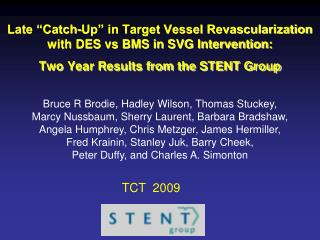 Late  Catch-Up  in Target Vessel Revascularization with DES vs BMS in SVG Intervention: Two Year Results from the STENT