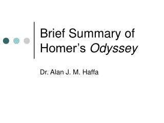 Brief Summary of Homer's  Odyssey
