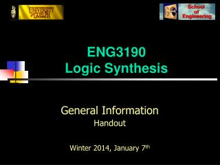 ENG3190 Logic Synthesis