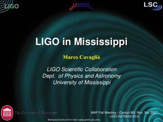 LIGO in Mississippi