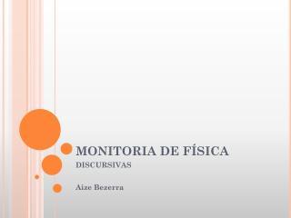 MONITORIA DE FÍSICA