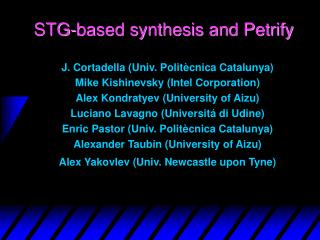 STG-based synthesis and Petrify