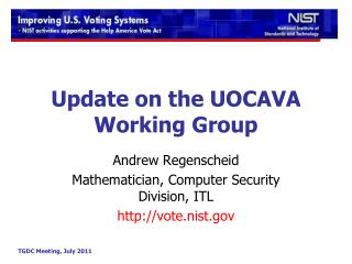 Update on the UOCAVA Working Group