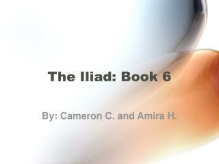 The Iliad: Book 6