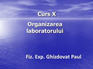 Curs X