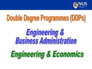 Double Degree Programmes DDPs