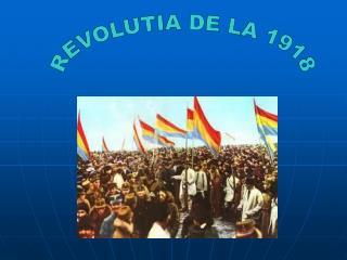 REVOLUTIA DE LA 1918
