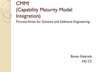 CMMI  (Capability Maturity Model Integration)