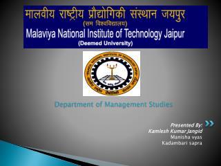 Department of Management Studies
