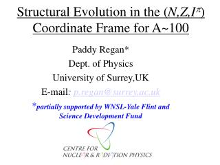 Structural Evolution in the ( N,Z,I p ) Coordinate Frame for A~100