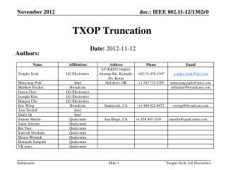 TXOP Truncation