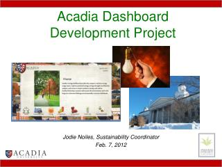 Acadia Dashboard Development Project