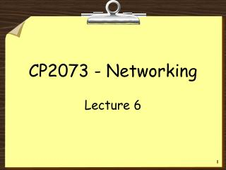 CP2073 - Networking