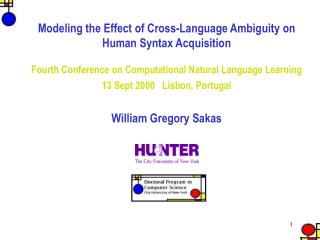 Modeling the Effect of Cross-Language Ambiguity on Human Syntax Acquisition
