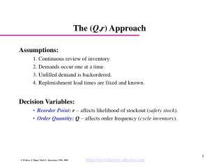 The Q,r Approach